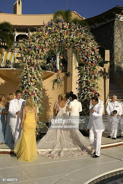 RATES Eric Trump Ivanka Trump Ivana Trump Rossano Rubicondi and Donald Trump Jr during the wedding of Ivana Trump and Rossano Rubicondi at the...