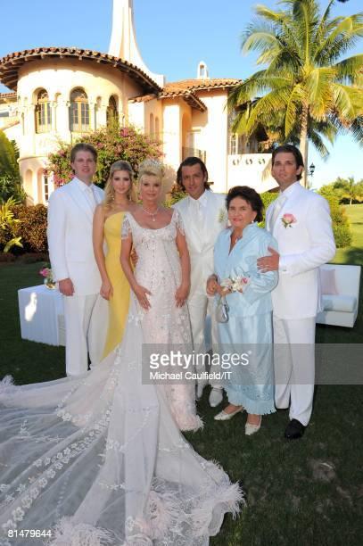 Eric Trump Ivanka Trump Ivana Trump Rossano Rubicondi Maria Zelnickobal and Donald Trump Jr after the wedding of Ivana Trump and Rossano Rubicondi at...