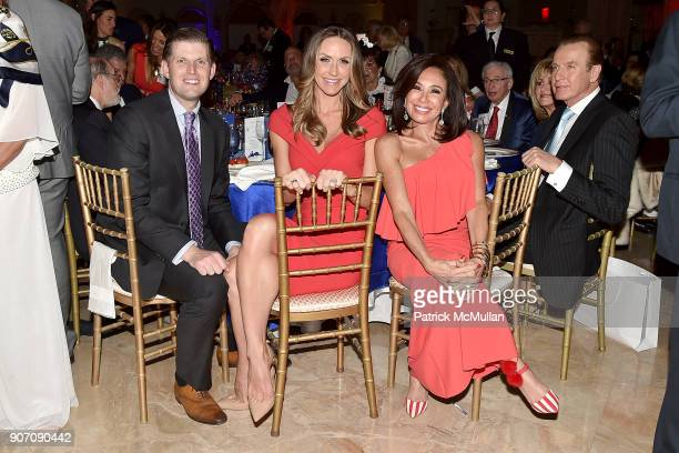 Eric Trump, Lara Trump and Jeanine Pirro attend President Trump's one year anniversary with over 800 guests at the winter White House at Mar-a-Lago...