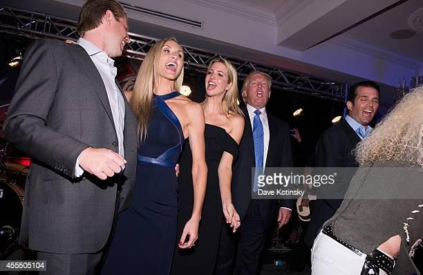 Eric Trump, Lara Yunaska, Ivanka Trump, Donald Trump and Donald Trump Jr. Sing at The Eric Trump 8th Annual Golf Tournament at Trump National Golf...