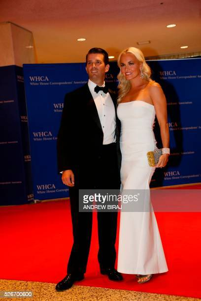 Eric Trump son of US Republican presidential candidate Donald Trump and wife Lara arrive for 102nd White House Correspondents' Association Dinnerin...