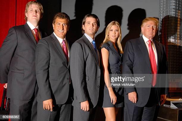 Eric Trump Tevfik Arif Donald Trump Jr Ivanka Trump and Donald Trump attend TRUMP SOHO Press Conference at Trump Soho Construction Site on September...
