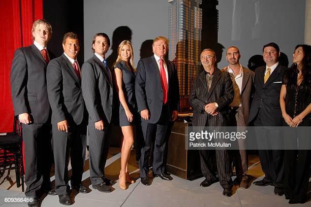 Eric Trump Tevfik Arif Donald Trump Jr Ivanka Trump Donald Trump Tamir Sapir Alex Sapir Julius Schwarz and Zina Sapir attend TRUMP SOHO Press...