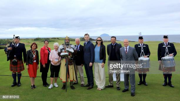 Eric Trump the EVP of the Trump Organisation his wife Lara the captains of Turnberry Golf Club Ralph Porciani the General Manager of Trump Turnberry...