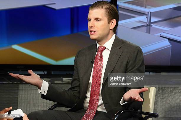 Eric Trump visits FOX Business Network's Maria Bartiromo at FOX Studios on October 4 2016 in New York City