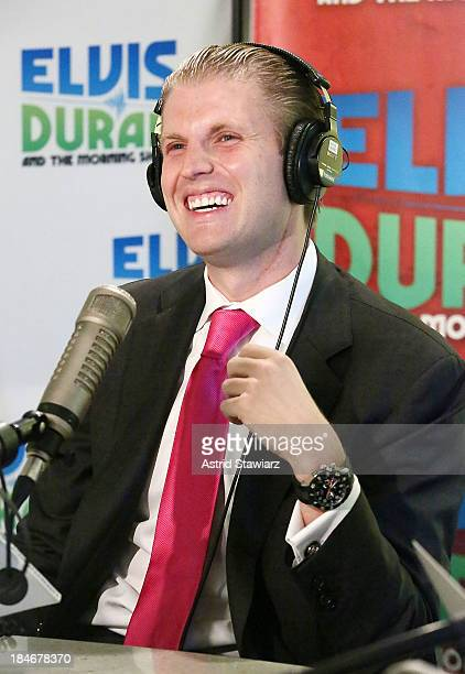 Eric Trump visits 'The Elvis Duran Z100 Morning Show' at Z100 Studios on October 15 2013 in New York City Eric Trump and Z100 radio host Elvis Duran...