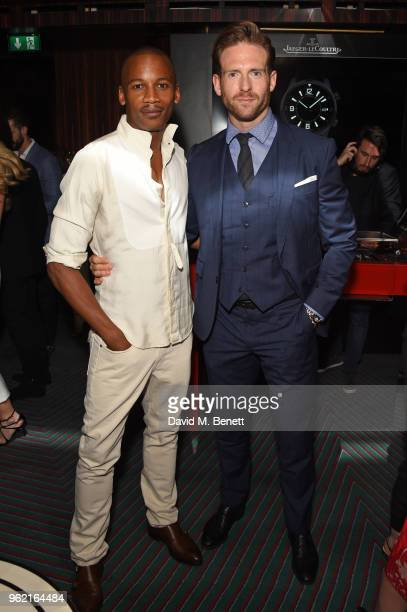 Eric Underwood and Craig McGinlay attend the launch of the JaegerLeCoultre Polaris collection at Isabel's Mayfair on May 24 2018 in London England