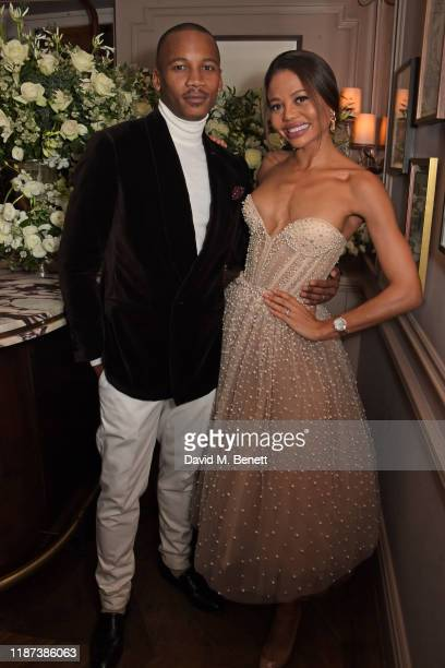 Eric Underwood and Emma Weymouth attend an intimate dinner hosted by Edward Enninful and Anne Mensah in celebration of the BAFTA Breakthrough Brits...