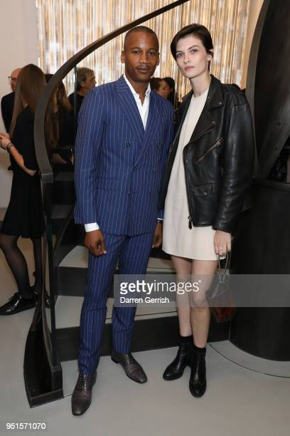 Eric Underwood and Lara Mullen attend the Maison Alaia London store opening Maison Alaia on April 26 2018 in London England