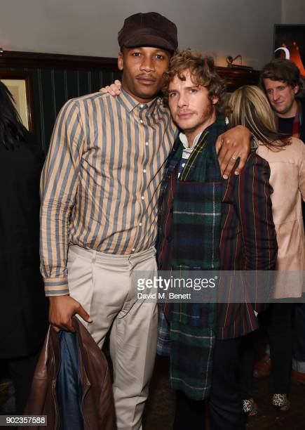 Eric Underwood and Luke Day attend the LFWM Official Party Pub LockIn during London Fashion Week Men's January 2018 at The George on January 7 2018...