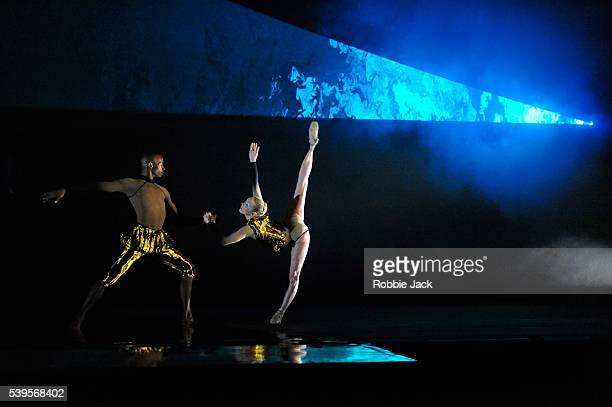Eric Underwood and Sarah Lamb in the Royal Ballet's production of Wayne McGregor's Woolf Works at the Royal Opera House Covent Garden in London