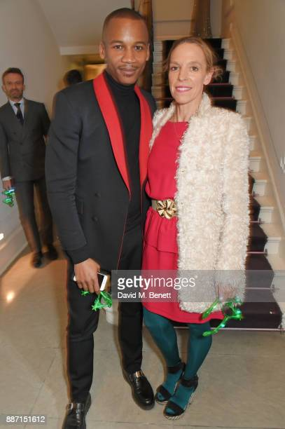 Eric Underwood and Tiphaine de Lussy attend the Stella McCartney Christmas Lights 2017 party on December 6 2017 in London England