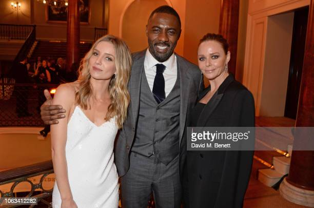 Eric Underwood Annabelle Wallis Idris Elba and Stella McCartney attend The 64th Evening Standard Theatre Awards at the Theatre Royal Drury Lane on...