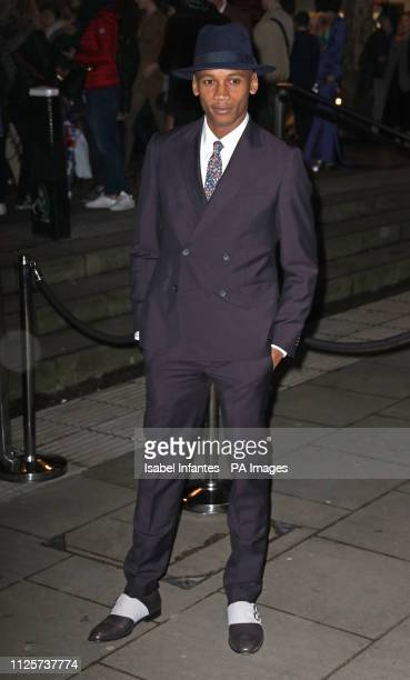 Eric Underwood arrives at the Late Fabulous Fund Fair at the Roundhouse in London during the Autumn/Winter 2019 London Fashion Week