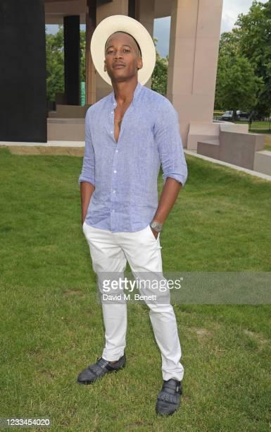 Eric Underwood attends a drinks reception celebrating 2021 BFC/GQ Designer Menswear Fund winner Priya Ahluwalia during London Fashion Week June 2021...