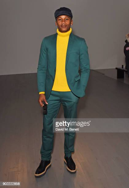 Eric Underwood attends the Christopher Raeburn show during London Fashion Week Men's January 2018 at BFC Show Space on January 7 2018 in London...