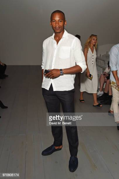 Eric Underwood attends the Christopher Raeburn show during London Fashion Week Men's June 2018 at the BFC Show Space on June 10 2018 in London England