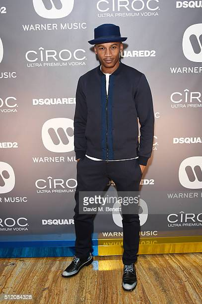 Eric Underwood attends the Warner Music Group Ciroc Vodka Brit Awards after party at Freemasons Hall on February 24 2016 in London England