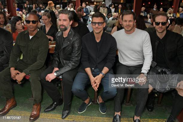 Eric Underwood, Jack Guinness, Johannes Huebl, Paul Sculfor and Craig McGinlay attend the Oliver Spencer Menswear SS20 show during London Fashion...