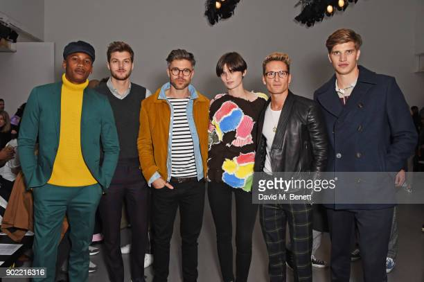 Eric Underwood Jim Chapman Darren Kennedy Lara Mullen Oliver Proudlock and Toby HuntingtonWhiteley attend the Christopher Raeburn show during London...
