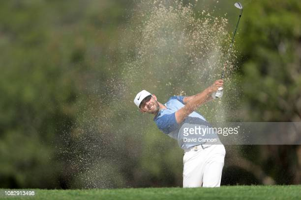 Eric Van Rooyen of South Africa plays his second shot on the par 4, 17th hole during the third round of the Alfred Dunhill Championships at Leopard...