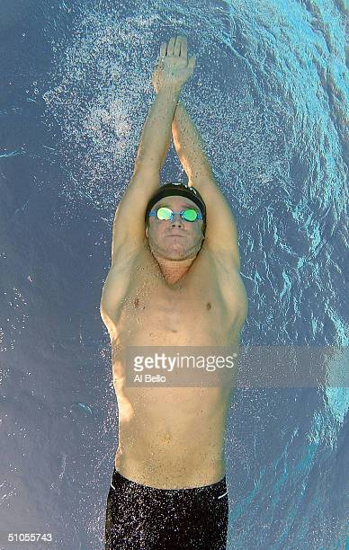 Eric Vendt swims the 1500 meter Freestyle heats during the US Swimming Olympic Team Trials on July 13 2004 at the Charter All Digital Aquatic Center...