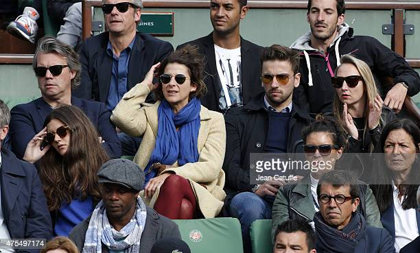 Eric Viellard Isabelle Gelinas Audrey Lamy and her boyfriend Thomas Sabatier attend day 8 of the French Open 2015 at Roland Garros stadium on May 31...
