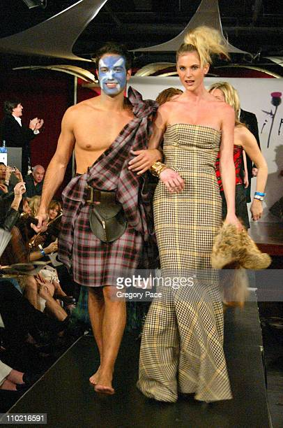 Eric Villency and Annelise Petterson during Dressed to Kilt A Scottish Evening of Fashion and Fun Runway at Copacabana in New York City New York...
