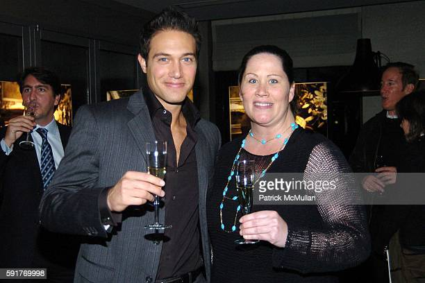 Eric Villency and Liz Dueland attend Champagne Perrier Jouet Launch of the 1998 Fleur de Champagne at Soho Grand Penthouse Lofts on October 17, 2005...