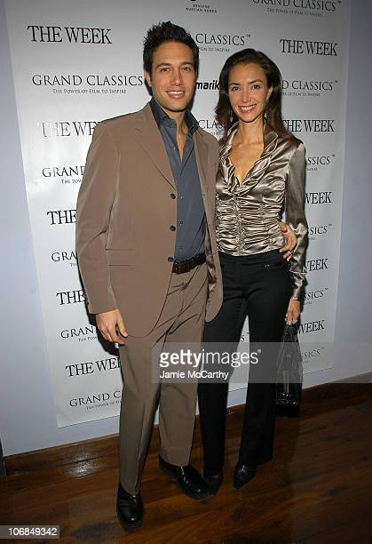 """Eric Villency and Olivia Chantecaille at the Grand Classics screening of """"Tootsie"""", sponsored by The Week."""