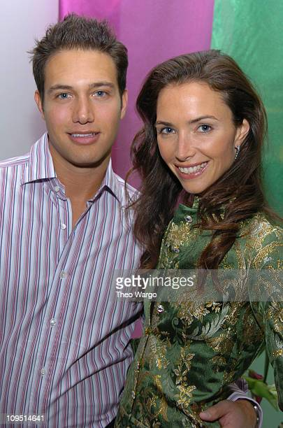 Eric Villency and Olivia Chantecaille during Designer Sebastian Pons Celebrates Color At Fashions First Party of the Spring Hosted by Maurice...