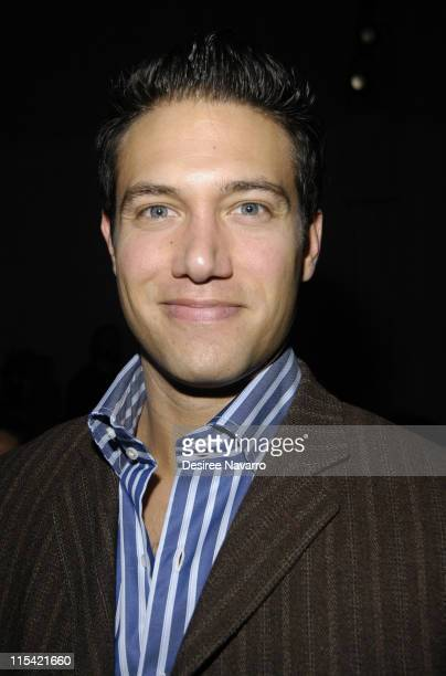 Eric Villency during Olympus Fashion Week Fall 2006 - Peter Som - Front Row and Backstage at The Promenade, Bryant Park in New York City, New York,...