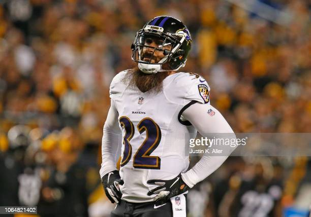 Eric Weddle of the Baltimore Ravens in action against the Pittsburgh Steelers on September 30 2018 at Heinz Field in Pittsburgh Pennsylvania