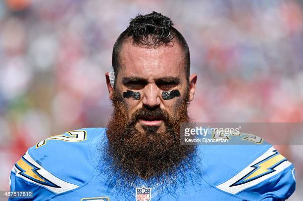 Eric Weddle of the San Diego Chargers during the NFL football game against Kansas City Chiefs at Qualcomm Stadium on October 19 in San Diego,...