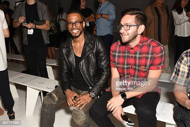 Eric West attends Rochambeau front row during New York Fashion Week Men's S/S 2017 at Skylight Clarkson Sq on July 13 2016 in New York City