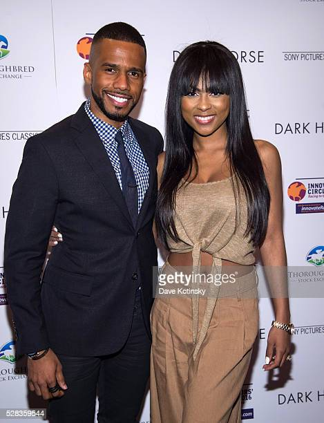 Eric West and Tashiana Washington arrive at the 'Dark Horse' New York Premiere at Regal Cinemas Union Square on May 4 2016 in New York City