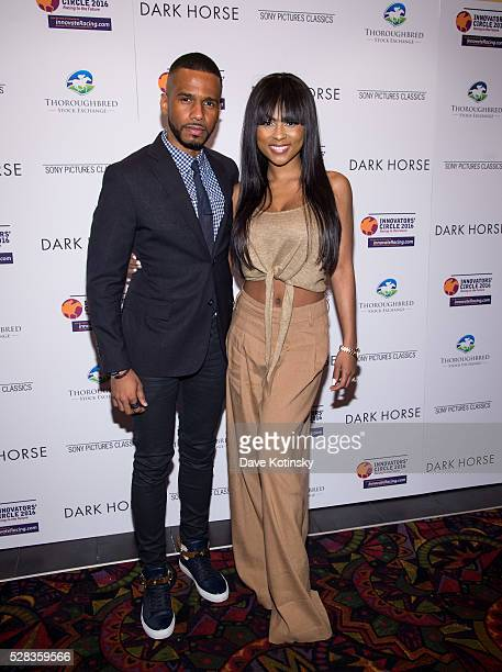 Eric West and Tashiana Washington arrive at the Dark Horse New York Premiere at Regal Cinemas Union Square on May 4 2016 in New York City