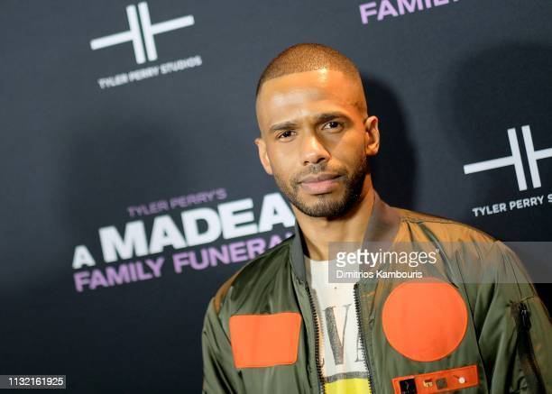 Eric West attends a screening for Tyler Perry's A Madea Family Funeral at SVA Theater on February 25 2019 in New York City