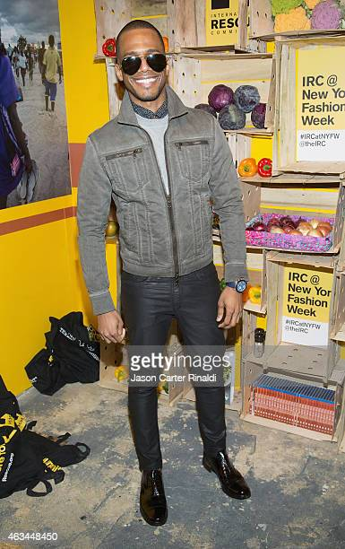 Eric West attends IRC Fashion Week PopUp and Photo Exhibition at Empire Hotel on February 14 2015 in New York City