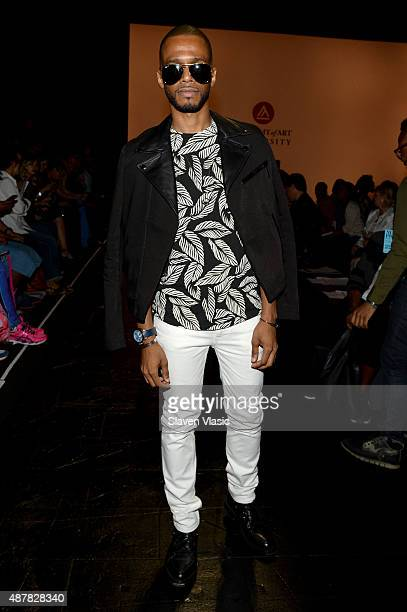 Eric West attends the Academy of Art University Spring 2016 Collections fashion show at The Arc Skylight at Moynihan Station on September 11 2015 in...