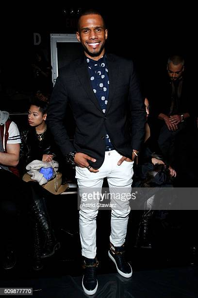 Eric West attends the Francesca Liberatore Fall 2016 fashion show during New York Fashion Week The Shows at The Dock Skylight at Moynihan Station on...