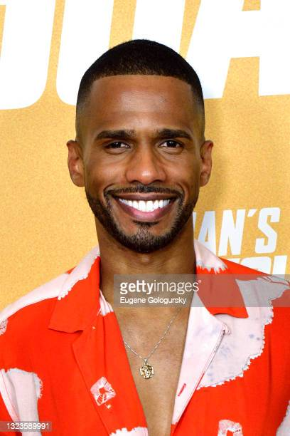 """Eric West attends the """"Hitman's Wife's Bodyguard"""" special screening at Crosby Street Hotel on June 14, 2021 in New York City."""