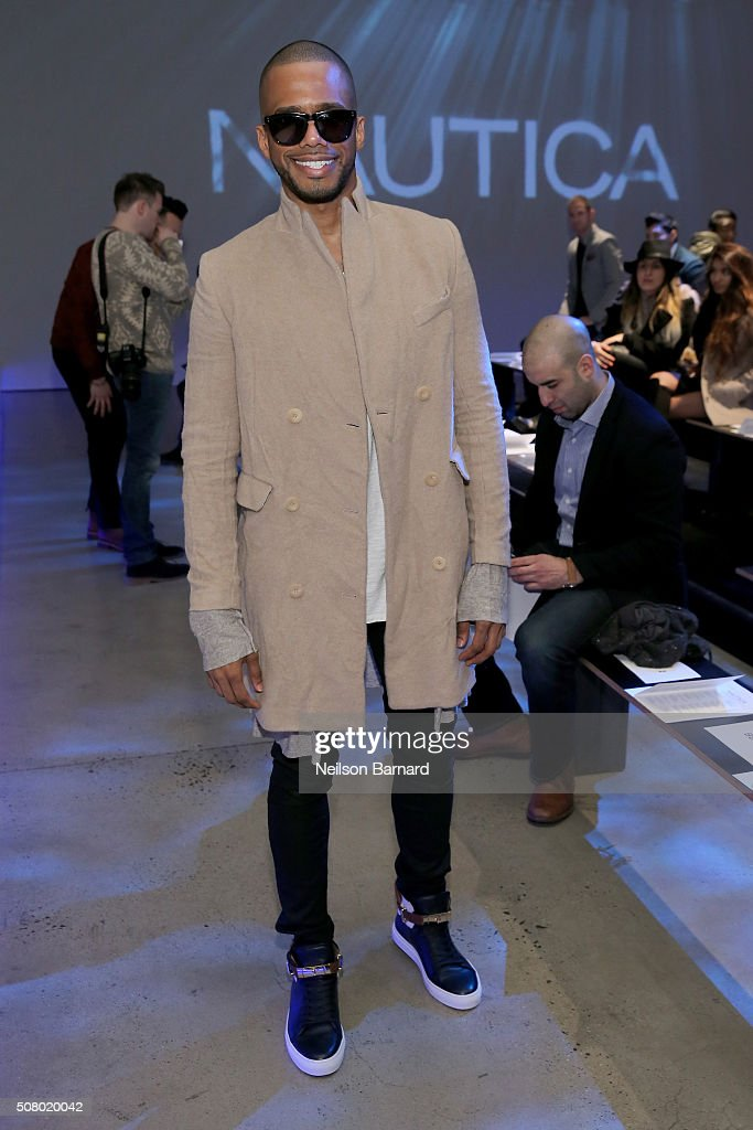 Eric West attends the Nautica Men's Fall 2016 fashion show during New York Fashion Week Men's Fall/Winter 2016 at Skylight Modern on February 2, 2016 in New York City.