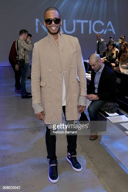 Eric West attends the Nautica Men's Fall 2016 fashion show during New York Fashion Week Men's Fall/Winter 2016 at Skylight Modern on February 2 2016...