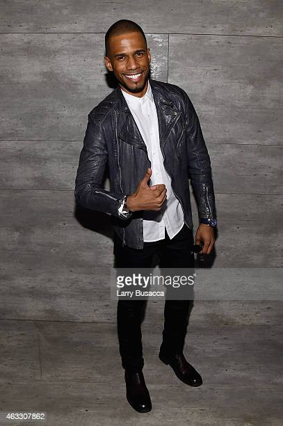 Eric West attends the Todd Snyder fashion show during MercedesBenz Fashion Week Fall 2015 at The Pavilion at Lincoln Center on February 12 2015 in...