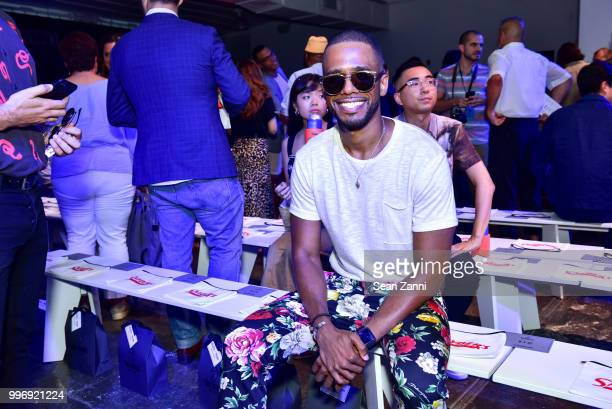 Eric West attends the Todd Snyder S/S 2019 Collection during NYFW Men's July 2018 at Industria Studios on July 11 2018 in New York City