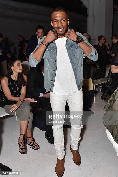 Eric West attends Todd Snyder Front Row New York Fashion Week Men's S/S 2017 at Skylight Clarkson Sq on July 14 2016 in New York City