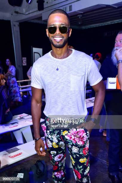 Eric West attends Todd Snyder S/S 2019 Collection during NYFW Men's July 2018 at Industria Studios on July 11 2018 in New York City