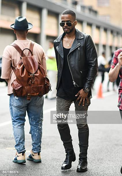 Eric West is seen outside the Rochambeau show during New York Fashion Week Men's S/S 2017 Day 3 on July 13 2016 in New York City