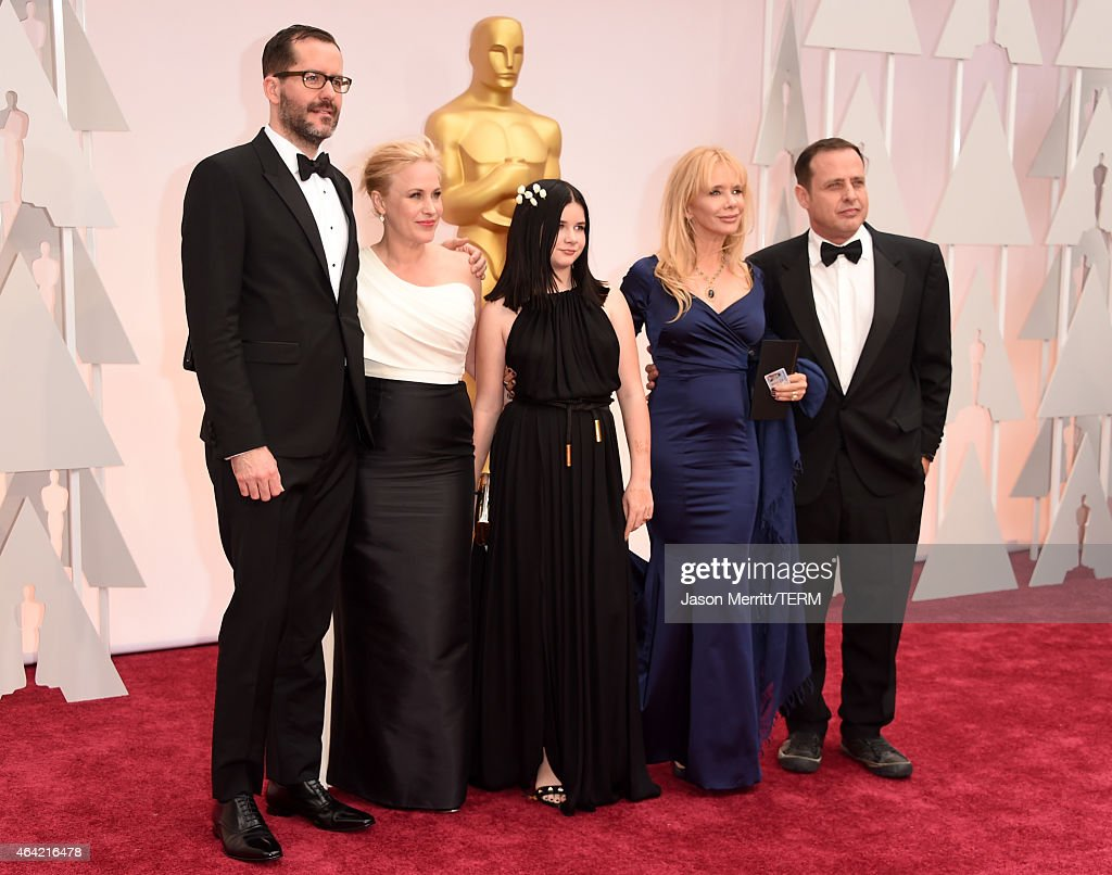 Eric White, Actress Patricia Arquette, Harlow Olivia Calliope, Rosanna Arquette and Richmond Arquette attend the 87th Annual Academy Awards at Hollywood & Highland Center on February 22, 2015 in Hollywood, California.